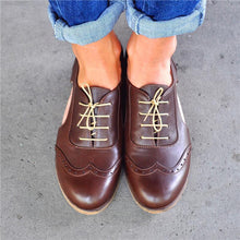 Load image into Gallery viewer, Open-Cut Stylish Leather Oxford Shoes