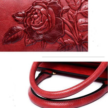 Load image into Gallery viewer, Rose Embroidery Tote Handbag Crossbody Bag