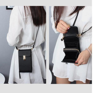 6 Card Slot Phone Purse Multi-function Crossbody Bag