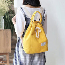 Load image into Gallery viewer, Canvas String Large Capacity Handbag Multifunction Waterproof Backpack