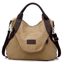 Load image into Gallery viewer, Large Pocket Casual Canvas Handbag Shoulder Crossbody Bag