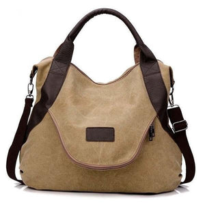 Large Pocket Casual Canvas Handbag Shoulder Crossbody Bag