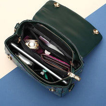 Load image into Gallery viewer, PU Leather Green Cover Crossbody Bag Forest Series Handbag