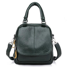 Load image into Gallery viewer, Faux Leather Handbag Travel Backpack Double Layer Crossbody Bag