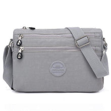 Load image into Gallery viewer, Nylon Water Resistant Multi-slot Crossbody Bag Solid Leisure Bag
