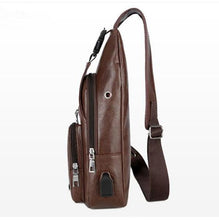 Load image into Gallery viewer, Outdoor USB Charging Port Chest Bag Travel Sling Crossbody Bag