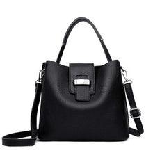 Load image into Gallery viewer, Retro Pu Leather Bucket Bag Casual Crossbody Bag Handbag