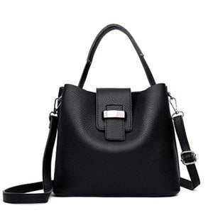 Retro Pu Leather Bucket Bag Casual Crossbody Bag Handbag