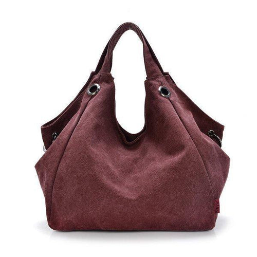 Canvas Casual Hobo Handbag Large Capcity Crossbody Bag