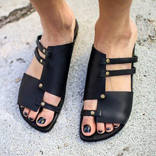 Load image into Gallery viewer, Women PU Sandals Casual Slip On Plus Size Shoes