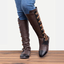 Load image into Gallery viewer, Women Fashion Side Buttons Flat Heel Boots