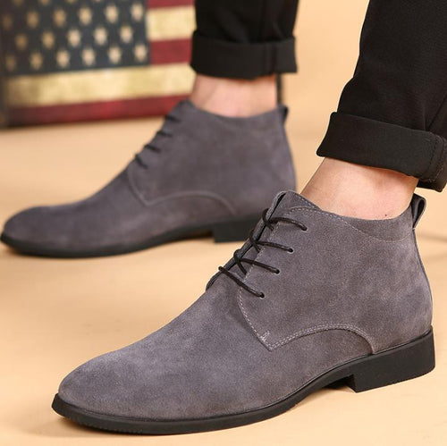 British Men's  Pointed Korean Casual  Martin Men Boots