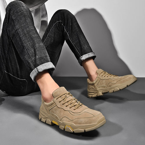 Man Leather Shoes Fashion Casual Shoe Male Suede Leather Sneakers clax Men's Walking Footwear Design