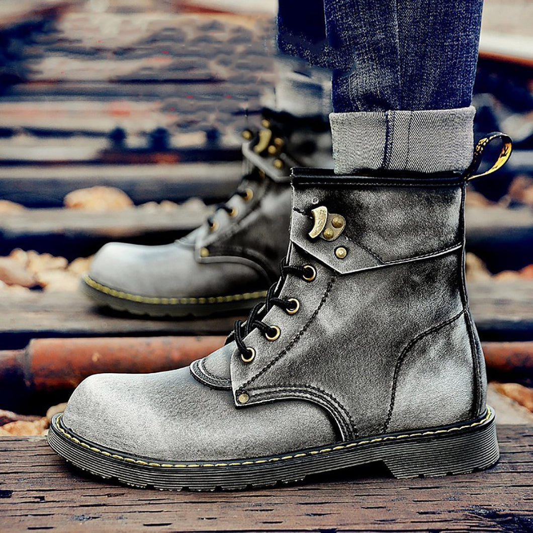 British Hundred Men's Suede Workers Wear Snow Men Boots