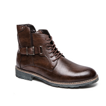 Load image into Gallery viewer, Men's high-top Martin boots