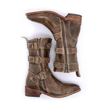 Load image into Gallery viewer, Womens Winter Vintage Boots Casual Buckle Ankle Shoes