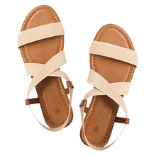Load image into Gallery viewer, Retro Beach Sandals For Women Shoes Low Heel Anti Skid Rome Style Shoes Peep Toe Fashion