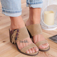 Load image into Gallery viewer, Women Casual Shoes Double Strap Chunky Heel Sandals