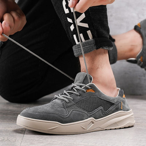 Man Shoes Casual Summer Autumn Men's Leather Sneakers Fashion Walking Footwear Leisure Shoe Breathable Soft
