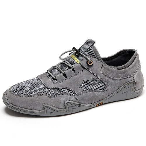 Shoes Fashion Casual Shoe Summer Mesh Leather Footwear Mens Sneakers Walking