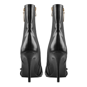 Big buckle Pointed Toe Stiletto high Heel Boots