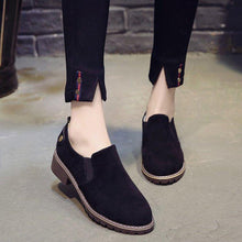 Load image into Gallery viewer, Women Fur Lined Suede Casual Slip On Boots