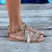 Load image into Gallery viewer, Flat Bottom Hollowed Out Handmade Casual Sandals