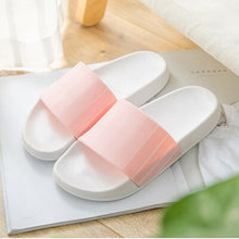 Load image into Gallery viewer, Summer Slippers Shoes Simple Streak Open Toe Low Platform Flip Flops Women Soft Flat Beach Sandals