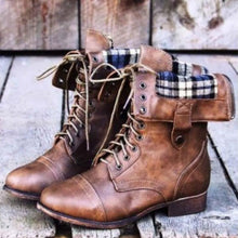 Load image into Gallery viewer, Women Rugged Plaid Darling Cozy Boot Shoes