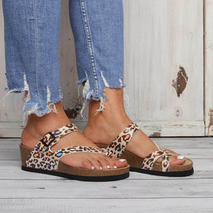 Summer Wedge Heel Buckle Sandals