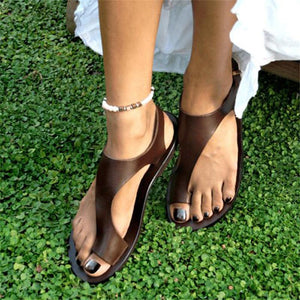 Brown Flip-Flop Ankle-Strap Sandals