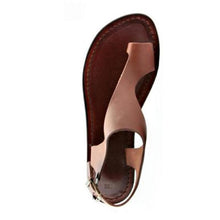 Load image into Gallery viewer, Brown Flip-Flop Ankle-Strap Sandals