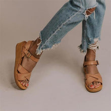 Load image into Gallery viewer, Brown Fashion Versatile Wedge Sandals