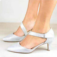 Load image into Gallery viewer, Medium Stiletto Women Ankle Strap Pointy Toe Heel Sandals