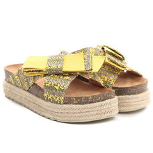 Load image into Gallery viewer, Platform Espadrille Sandals Open Toe Bowknot Boho Women Sandals