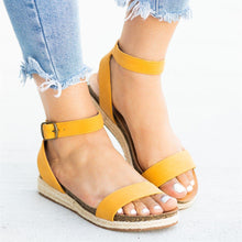Load image into Gallery viewer, Espadrille Open Toe Sandals
