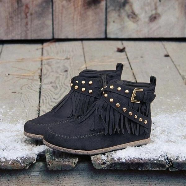 Women's Fashion Tassile Vintage Ankle Boots