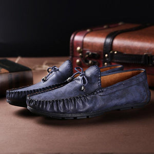 Men Vintage Classic Moc ToeSoft Slip On CasuaL Loafers