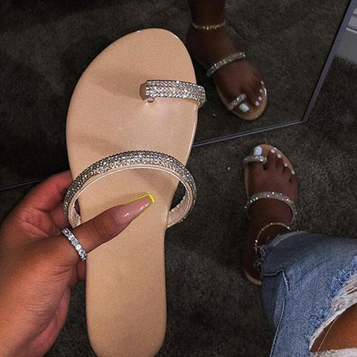 Women Slip-On Glitter Casual Sandals