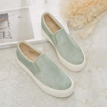 Load image into Gallery viewer, Women Corduroy Loafers Elastic Band Casual Slip on Non-slip Shoes