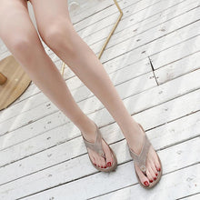 Load image into Gallery viewer, Rhinestone Casual Wedges Platforms Flip-Flop Sandals