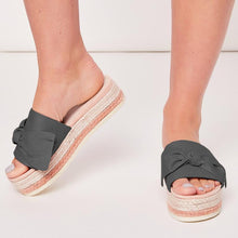 Load image into Gallery viewer, Women Bow Espadrilles Platform Mules Shoes