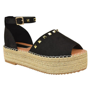 Women Creeper Sandals Casual Adjustable Buckle Shoes