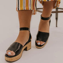 Load image into Gallery viewer, Vintage Plain Ankle Strap Platform Chunky Sandals