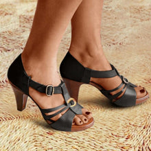 Load image into Gallery viewer, Hollow Buckle High Heels Stilettos Sandals