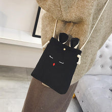 Load image into Gallery viewer, Creative Rabbit Linen Messenger Bag Phone bag