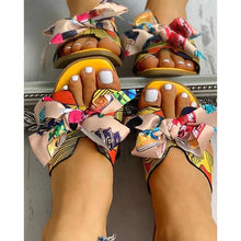 Load image into Gallery viewer, Women Fashion Casual Bow Flat Sandals