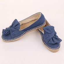 Load image into Gallery viewer, Spring Summer Women Canvas Flat Slip On Comfortable Bow-knot Loafer