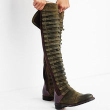 Load image into Gallery viewer, Bandage Frosted Zipper Thigh-high Chelsea Boots Shoes