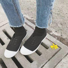 Load image into Gallery viewer, Women Spring Summer Round Toe Canvas Shoes Flats Casual Daily Slip-on